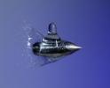 Wassertropfen im Flug durchschossen